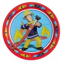 Papteller Feuerwehrmann Sam 8 Stück