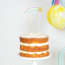 Cake Topper Stern Rainbow