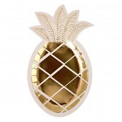 Pappteller Ananas 8 Stück