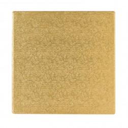 Tortenplatte Quadratisch Gold 30cm