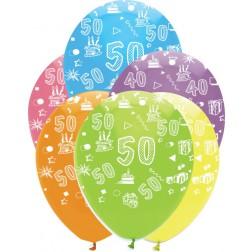 Luftballons Zahl 50 bunt 6 Stück