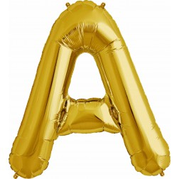 Folienballon Buchstabe A gold 86cm