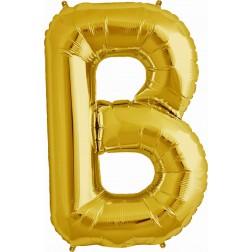 Air Folienballon Buchstabe B gold 41cm