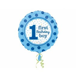 Folienballon 1 first Birthday Boy 43cm
