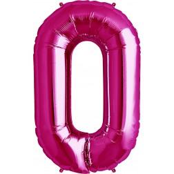 Air Folienballon Symbol 0 magenta 41cm