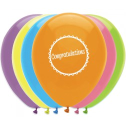 Luftballons Congratulations 6 Stück