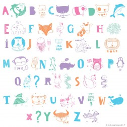 Lightbox Letters Set ABC Illustration Pastel