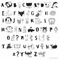 Lightbox ABC Letters Set Illustration black