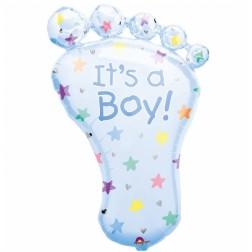 Folienballon Baby Fuß Boy 82cm