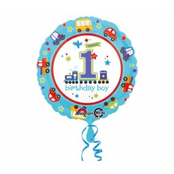 Folienballon 1th Birthday Boy 43cm