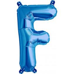 Air Folienballon Buchstabe F blau 41cm
