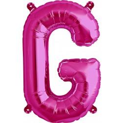 Air Folienballon Buchstabe G magenta 41cm