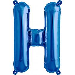 Air Folienballon Buchstabe H blau 41cm