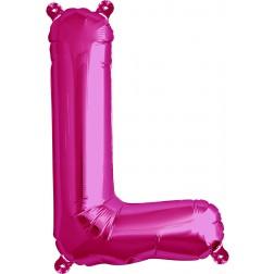Air Folienballon Buchstabe L magenta 41cm
