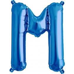 Air Folienballon Buchstabe M blau 41cm