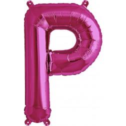 Air Folienballon Buchstabe P magenta 41cm
