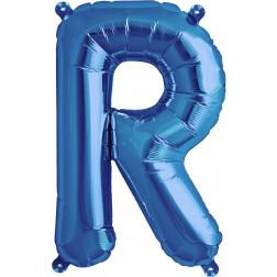 Air Folienballon Buchstabe R blau 41cm