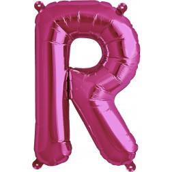 Air Folienballon Buchstabe R magenta 41cm