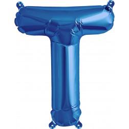 Air Folienballon Buchstabe T blau 41cm
