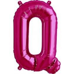 Air Folienballon Buchstabe Q magenta 41cm