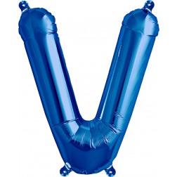 Air Folienballon Buchstabe V blau 41cm