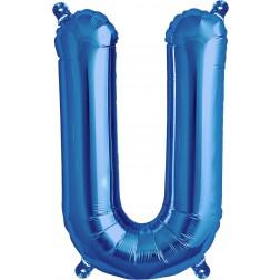 Air Folienballon Buchstabe U blau 41cm
