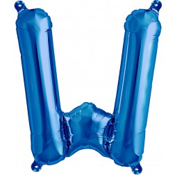 Air Folienballon Buchstabe W blau 41cm