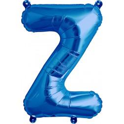 Air Folienballon Buchstabe Z blau 41cm