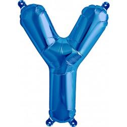 Air Folienballon Buchstabe Y blau 41cm