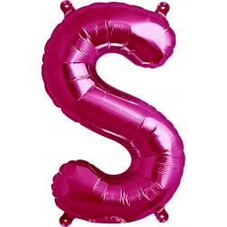 Air Folienballon Buchstabe S magenta 41cm