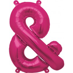 Air Folienballon Symbol & magenta 41cm