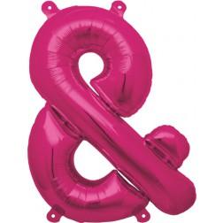Air Folienballon Symbol & magenta 41cm