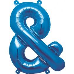 Air Folienballon Symbol & blau 41cm