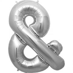Folienballon Symbol & silber 86cm