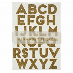 Stickers Alphabet glitzer gold 10 Bögen