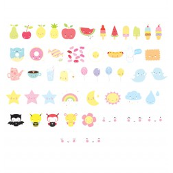Lightbox Letter Set Kawaii 48 Illustrationen