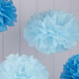 Pom pom mix blau 5 Stück