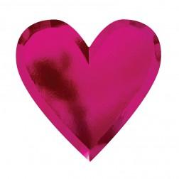 Pappteller Herz rot 8 Stück