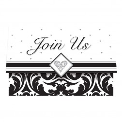 Einladungskarten Black & White Party 25Stück