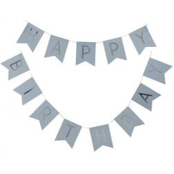 Girlande Happy Birthday blau 2,5m