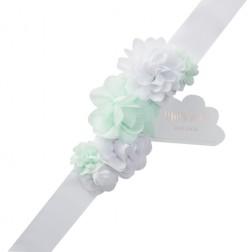 Schärpe Mum to be Pretty Flowers mint weiß