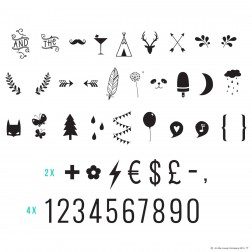 Lightbox 85 Numbers Symbols Set