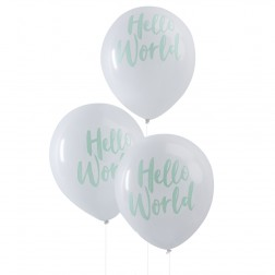 Luftballons Mint Hello World 10 Stück