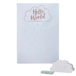Fingerprints Rose Gold Guest Book Hello World