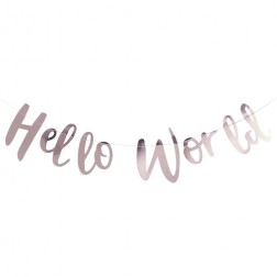 Girlande Rose Gold Hello World 2m