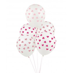 Luftballons mit Herzen 5 Stück