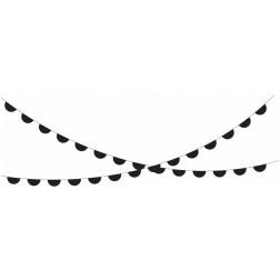 Girlande Halbkreise schwarz 3m
