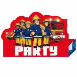 Feuerwehrman Sam Einladungsarten 8 Stück