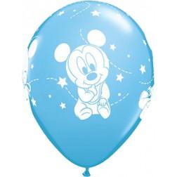 Mickey Mouse Luftballons blau 6 Stück