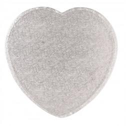 Tortenplatte Herz Silber 28cm
